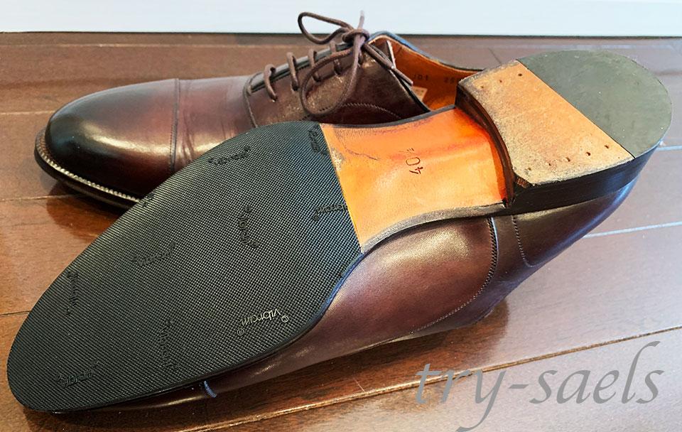 ロブス 革靴 ハーフラバー
