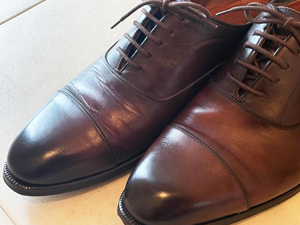 1年履いたロブスの革靴